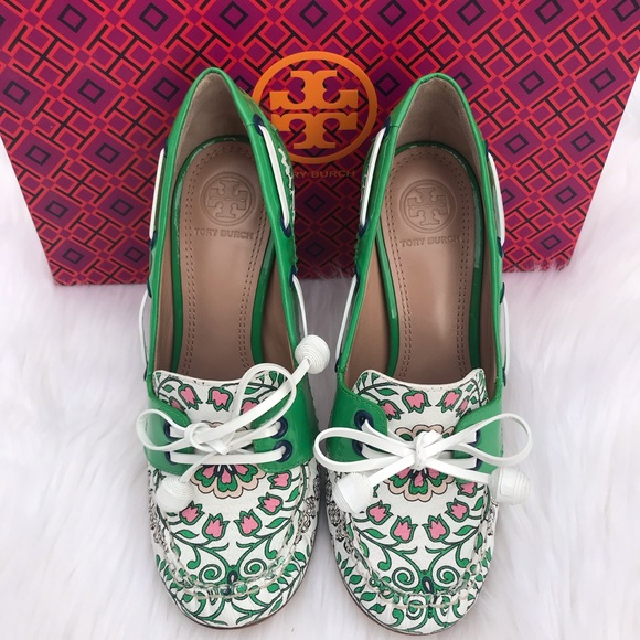 ac8202330 🌟TORY BURCH Garden Party Fisher Loafer Pump 💕🎀